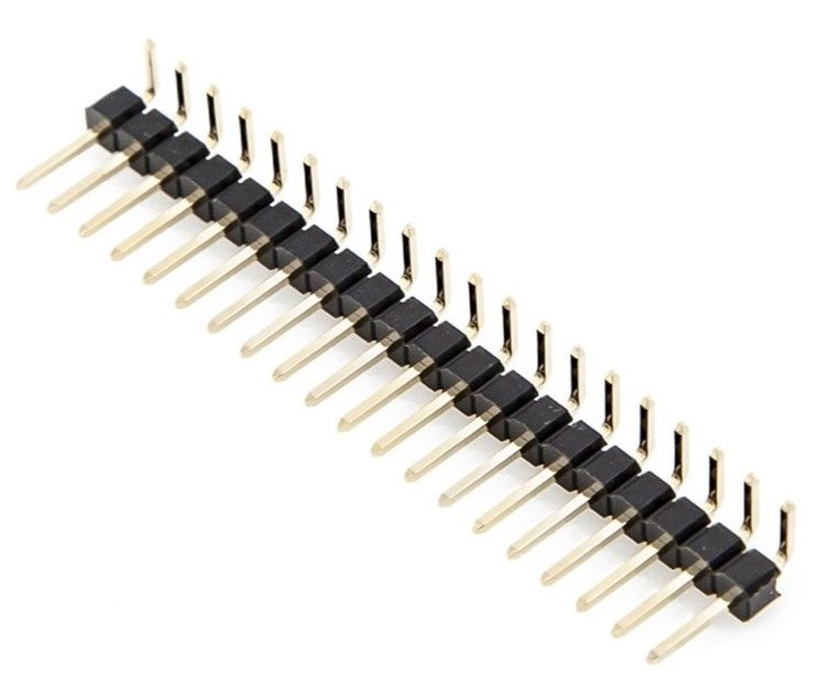 BOARD TO BOARD CONNECTOR 100-2006 MALE PIN HDR 1.27MM SINGLE ROW RIGHT ANGLE THROUGH HOLE 1.5A