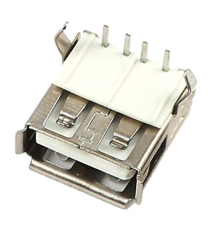 604-0006 USB 2.0 Type A 90° Reverse Type Through Hole