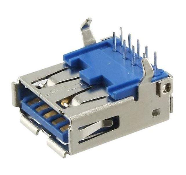 605-0005 USB 3.0 Type A Single Port Horizontal 90 TH