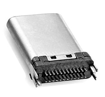 607-0002 USB TYPE C PCB VERT THROUGH HOLE