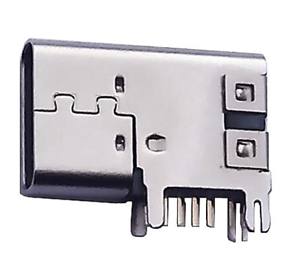607-0012 USB TYPE C 14 PIN USB 2.0 FLAG STYLE THROUGH HOLE