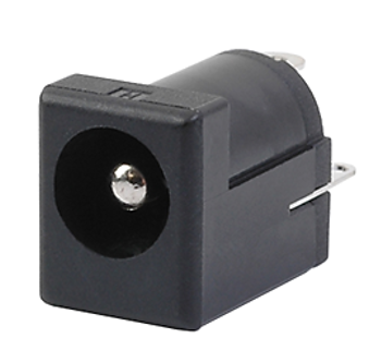 200-1000 DC POWER JACK 2.0MM PIN THROUGH HOLE RIGHT ANGLE 5A UNSHIELDED