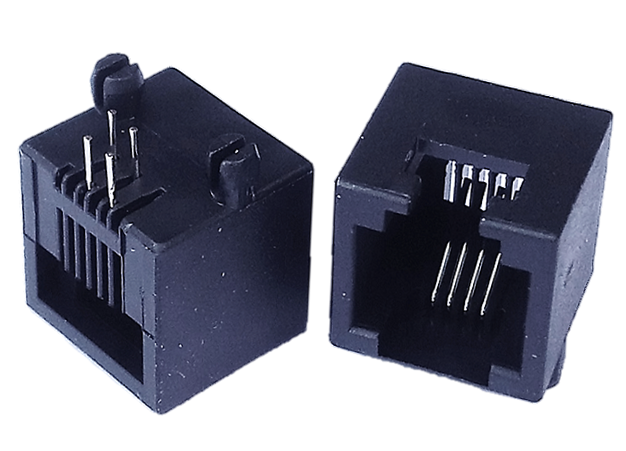 500-0001 RJ11 6P4C 1x1, THROUGH HOLE, RIGHT ANGLE, UNSHIELDED
