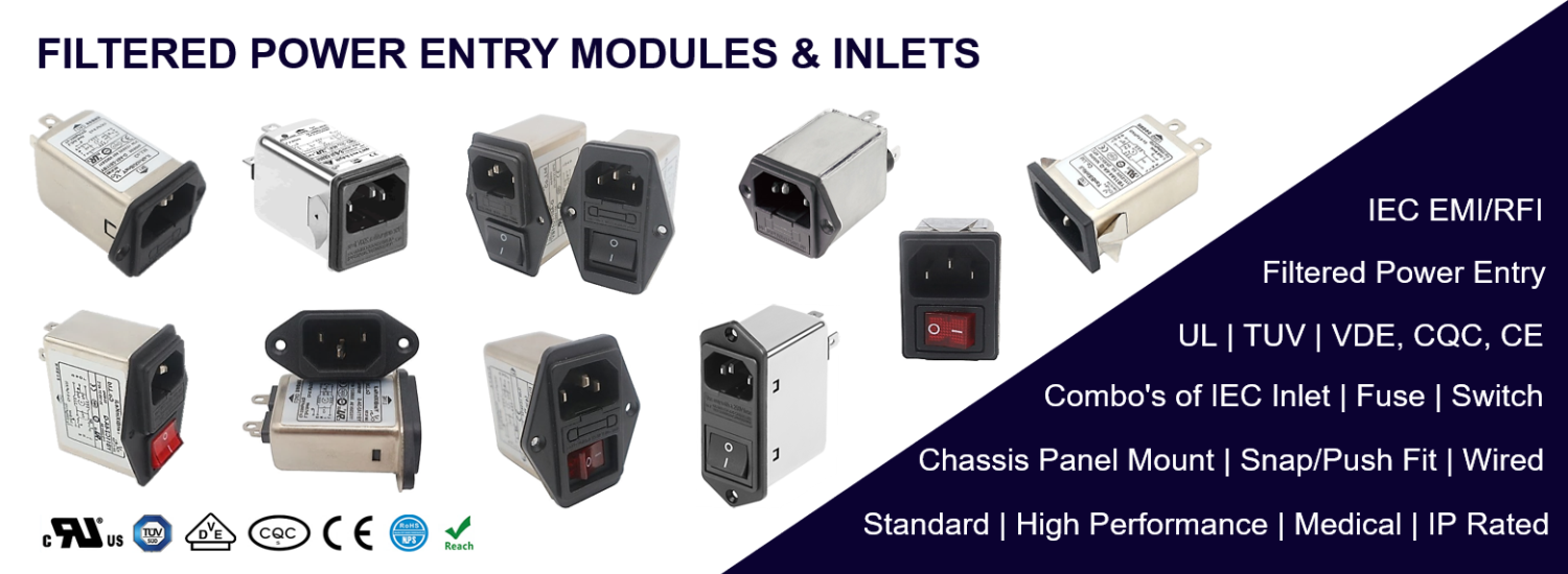 FILTERED POWER ENTRY MODULES & INLETS