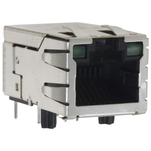 501-0006 1 Port, Non PoE Gigabit 1000 Base-T, TH RA Drop-in Replacement for Wurth 7499111614A & Pulse JK0-0136NL
